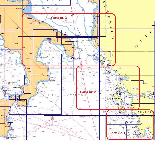 Mappa Nautica Puglia.Carta Generale Grecia2013